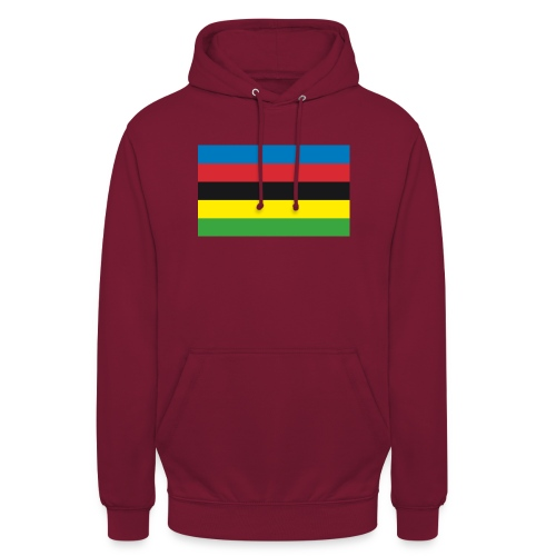 Cycling_World_Champion_Rainbow_Stripes-png - Hoodie unisex