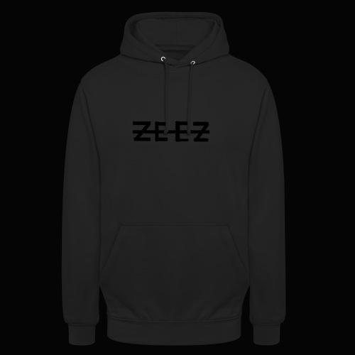zeez poilu noir - Sweat-shirt à capuche unisexe
