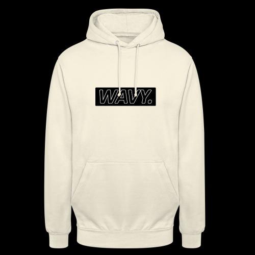 BLACK WAVY. RECTANGLE - Sweat-shirt à capuche unisexe