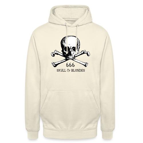 skull & blondes (black) - Unisex Hoodie