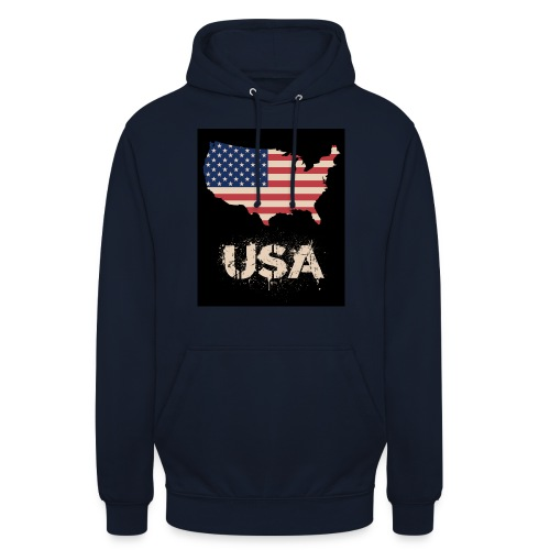 USA FLAG 4th of July With Flag - Luvtröja unisex