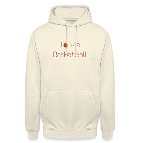 love basketball - Bluza z kapturem typu unisex