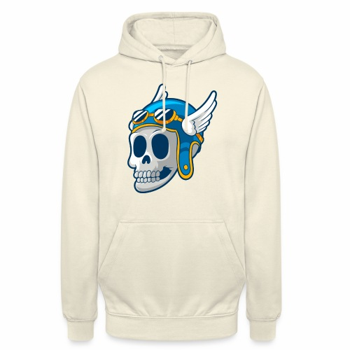 Skull with winged Helmet - Unisex Hoodie