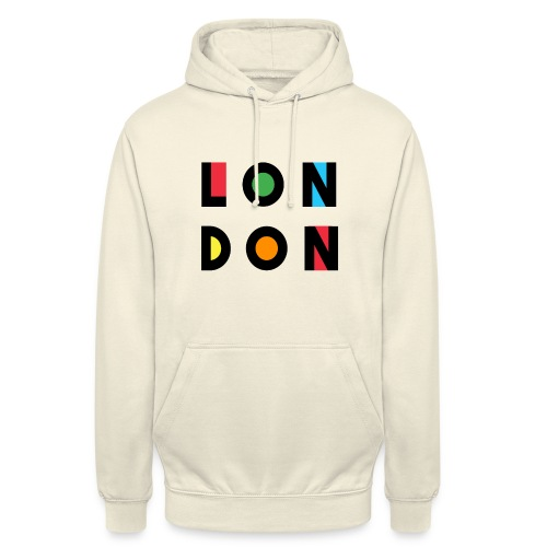 Vintage London Souvenir - Retro Modern Art London - Unisex Hoodie