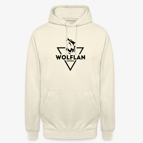 WolfLAN Gaming Logo Black - Unisex Hoodie