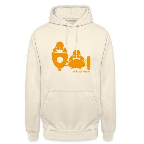 BASSET LOGO orange - Sweat-shirt à capuche unisexe