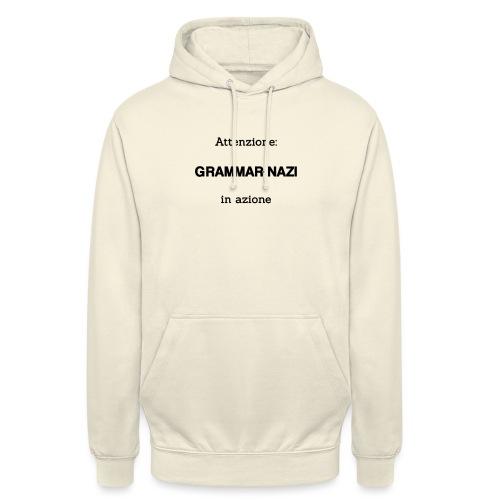 Attenzione: Grammar-nazi in azione - Felpa con cappuccio unisex