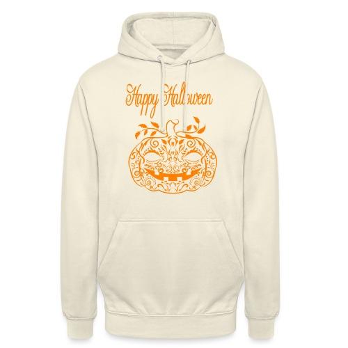 Doodle pumpkin Happy halloween - Hoodie unisex