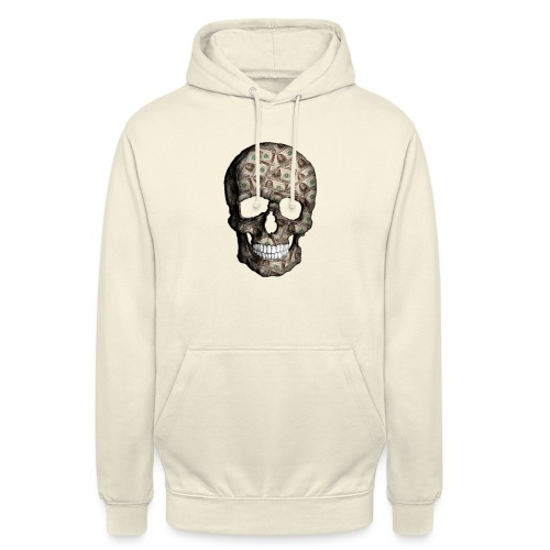 Skull Money - Sudadera con capucha unisex