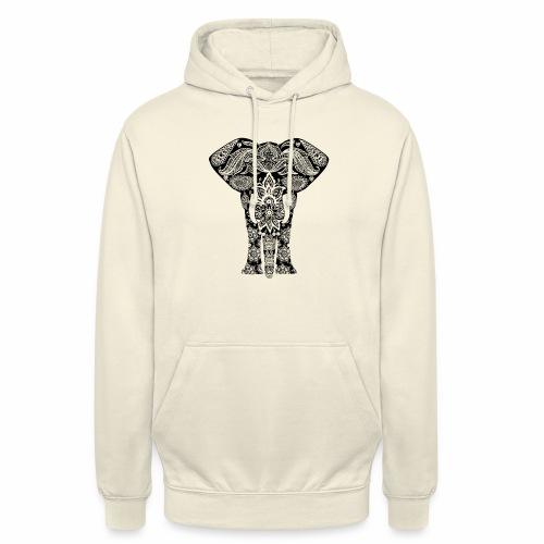 Ażurowy słoń - Bluza z kapturem typu unisex