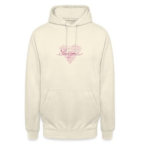 In kalk letters - Sweat-shirt à capuche unisexe