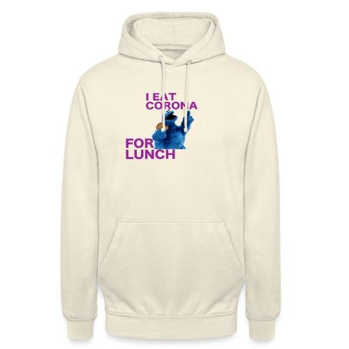 I eat corona for lunch - coronavirus shirt - Hoodie unisex