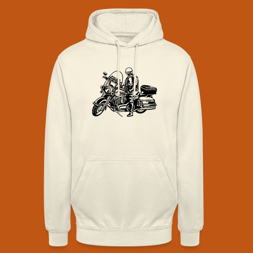 Motorradpolizei / Motorcycle Police 01_schwarz - Unisex Hoodie