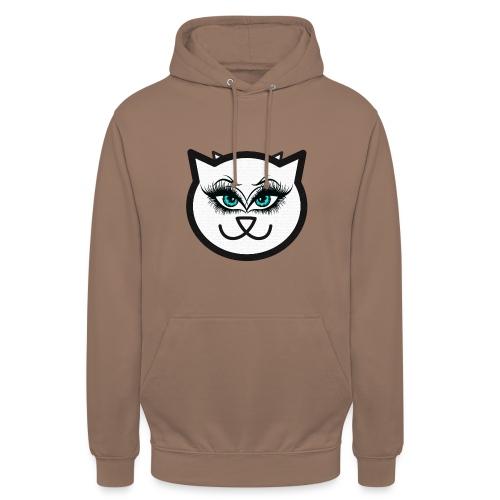 Hipster Cat Girl by T-shirt chic et choc - Sweat-shirt à capuche unisexe