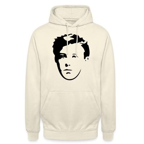 Arthur Rimbaud visage - Sweat-shirt à capuche unisexe