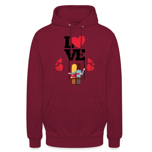 Love couple t-shirt - Sweat-shirt à capuche unisexe