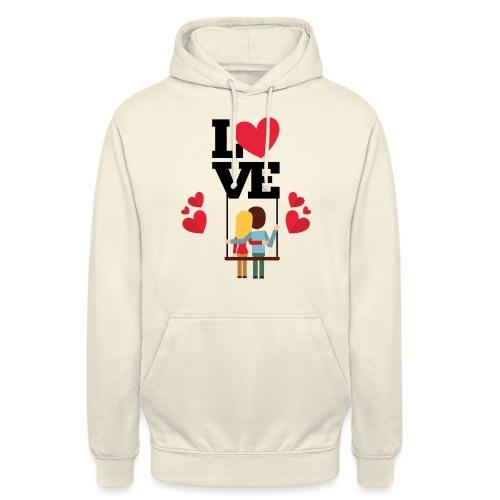Love couple t-shirt - Sweat-shirt à capuche unisexe