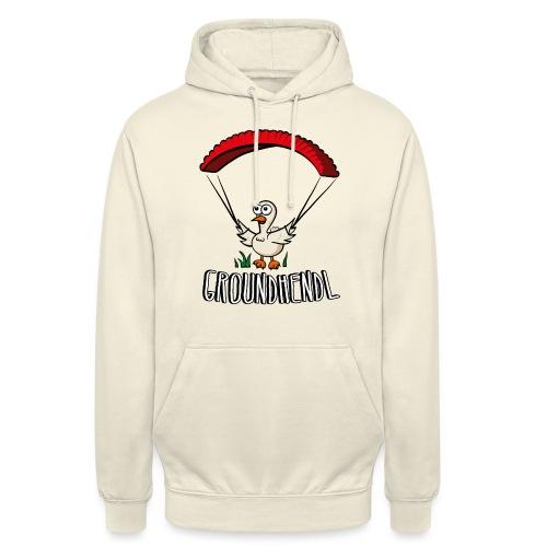 Groundhendl Paragliding Huhn - Unisex Hoodie