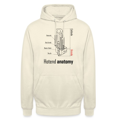 Hotend anatomy - Unisex Hoodie