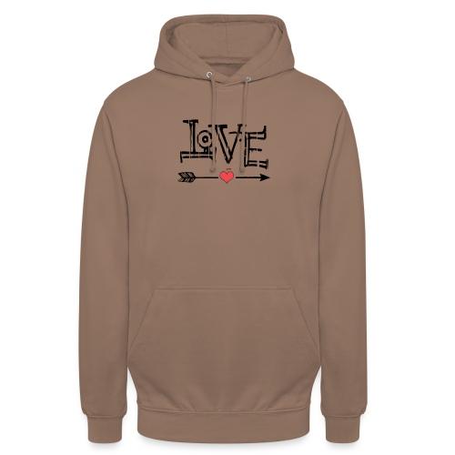Love flêche - Sweat-shirt à capuche unisexe