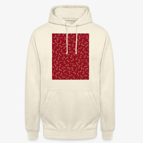 Motif dragon sur fond rouge - Sweat-shirt à capuche unisexe
