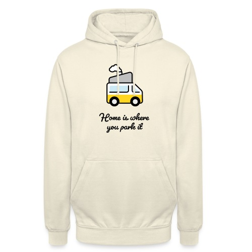 Home is where you park it - DUNKEL - Unisex Hoodie