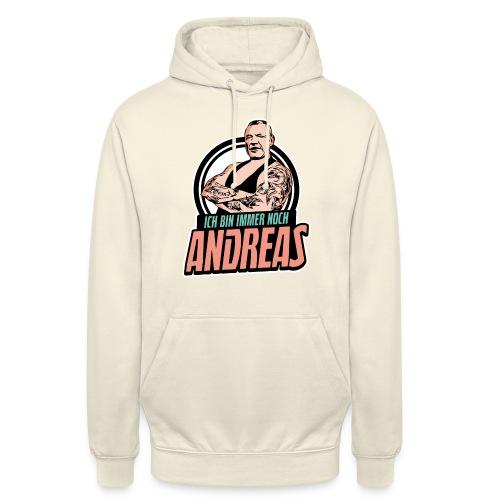 Immer-Noch-Andreas-Logo BUNT - Sudadera con capucha unisex