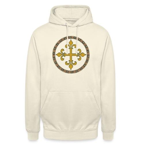 croce celtica oro - Felpa con cappuccio unisex