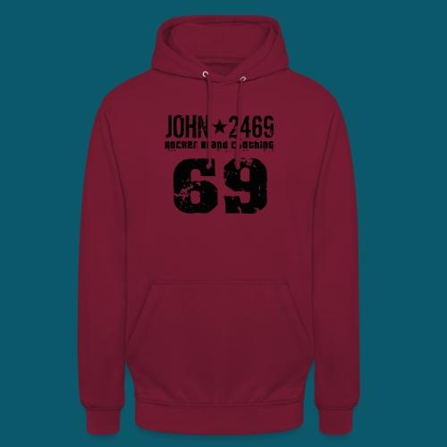 john 2469 numero trasp per spread nero PNG - Felpa con cappuccio unisex