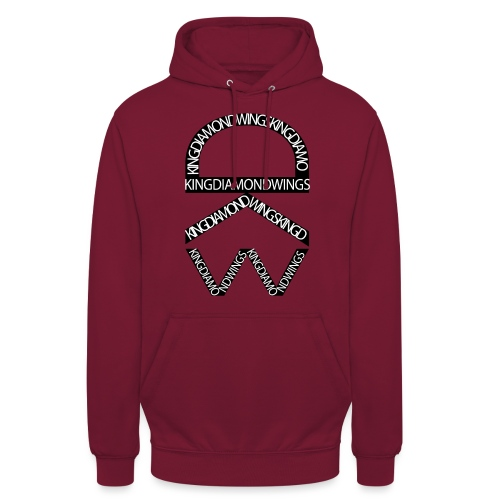 King Diamond Wings Logo - Unisex Hoodie