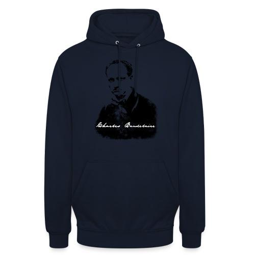 Charles Baudelaire - Sweat-shirt à capuche unisexe