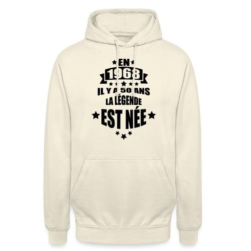 en 1968 il y a 50 ans la légende est née - Sweat-shirt à capuche unisexe