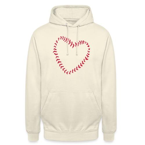 2581172 1029128891 Baseball Heart Of Seams - Unisex Hoodie