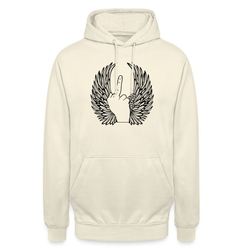 middle finger with wings - Hoodie unisex