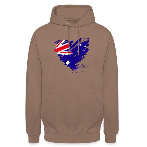 Australien Sydney Kontinent Grunge Herz Fahne - Unisex Hoodie