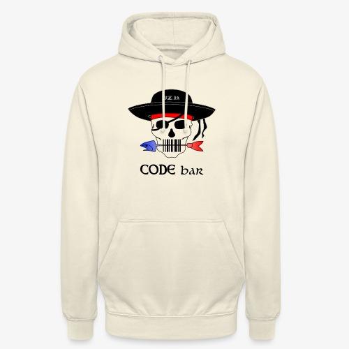 Code Bar couleur - Sweat-shirt à capuche unisexe