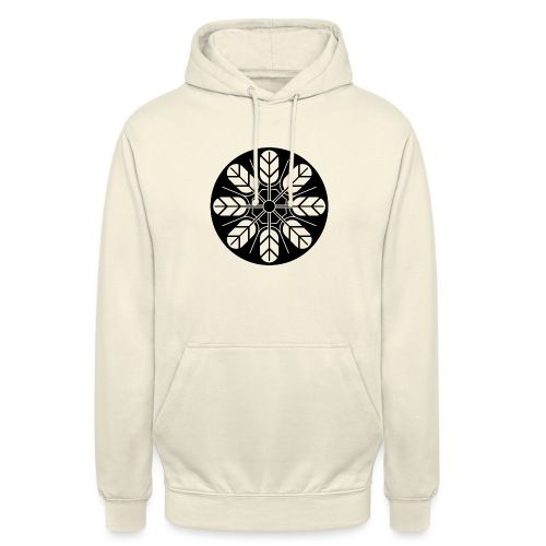 Inoue clan kamon in black - Unisex Hoodie