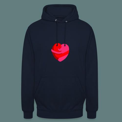 hearts hug - Felpa con cappuccio unisex