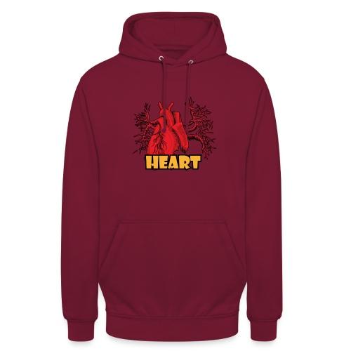 HEART - Felpa con cappuccio unisex