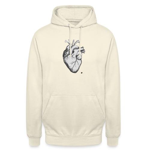 coeurhumain - Sweat-shirt à capuche unisexe