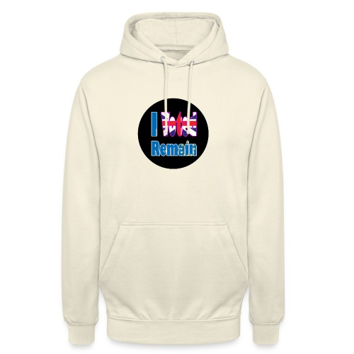 I Voted Remain badge EU Brexit referendum - Unisex Hoodie