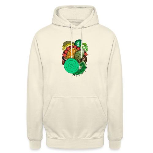 Coloured Leaf Mandala - Unisex Hoodie