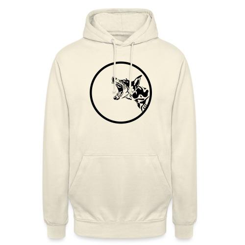 dog in a circle frame - Sweat-shirt à capuche unisexe