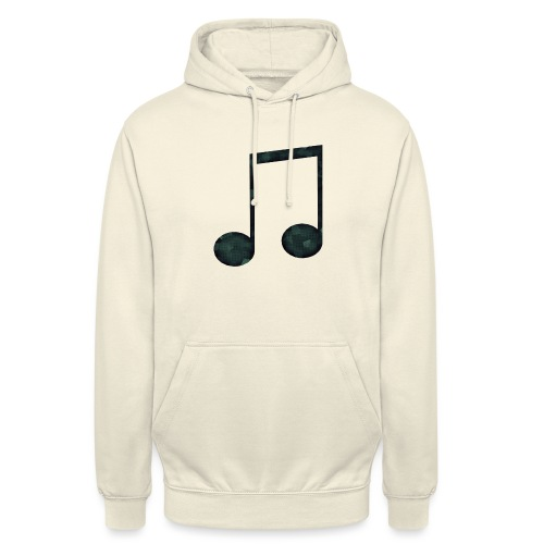 Low Poly Geometric Music Note - Unisex Hoodie