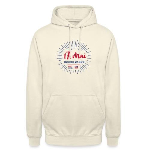17. mai T-skjorte - Det norske plagg - Unisex-hettegenser