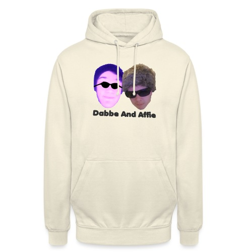 Dabbe And Affie Svart Text - Luvtröja unisex