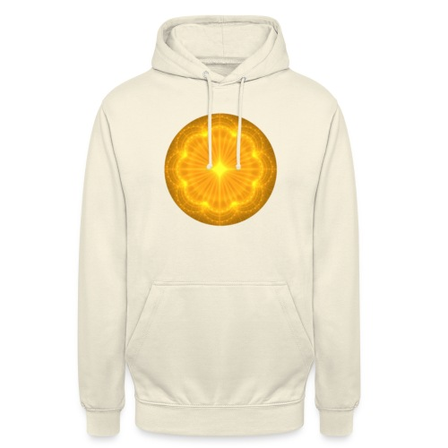 Golden Radiance Mandala Heart - Hoodie unisex