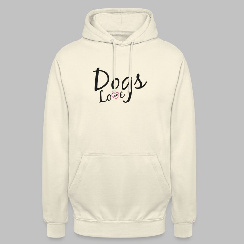 DOGS LOVE - Herz mit Hundepfoten - Unisex Hoodie