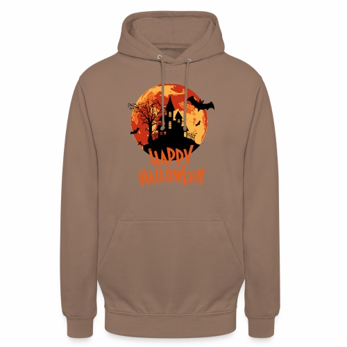 Bloodmoon Haunted House Halloween Design - Unisex Hoodie