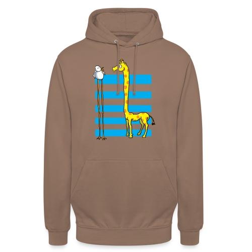 La girafe et l'échassier - Sweat-shirt à capuche unisexe